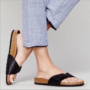 🆕 BIRKENSTOCK x Madewell black sandals slides- 40